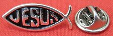 Jesus Fish Lapel Hat Cap Tie Pin Badge Holy Christian Religious Brooch Souvenir