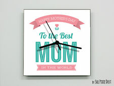Mother's Day Wall Clock - To the Best Mom in the World