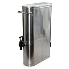 Low Profile 3.5 Gallon Stainless Steel Iced Tea Coffee Beverage Dispenser