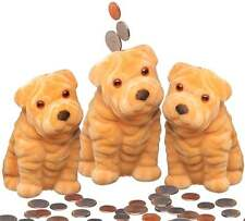 """3 Cute Puppy Dog Safe Bank For Kids Money Coins Savings,5"""" inch.(piggy bank) New"""