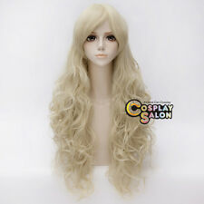 Lolita 80cm Long Curly Light Blonde Hair Fancy Party Women Anime Cosplay Wig