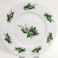 "Lily of the Valley Side Plates Set of 4 Bone China 8"" 20 cm Breakfast Plates"