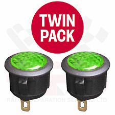 TWIN PACK GREEN 12 Volt LED Warning Light Race Rally Off Road Kit Drift Car