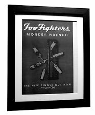 FOO FIGHTERS+MONKEY WRENCH+POSTER+AD+RARE ORIGINAL 1997+FRAMED+FAST GLOBAL SHIP