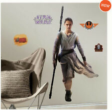 STAR WARS VII THE FORCE AWAKENS REY wall sticker 13 decals MURAL room decor hero
