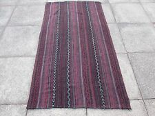 Old Tribal Nomadic Hand Made Persian Oriental Red Wool Jajim Kilim 193x107cm