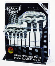 Draper 83401 t9-t40 8pc Soft Grip Impugnatura a T Torx Allen Key Rack Set TX Star