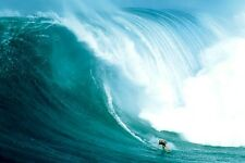 SURFING POSTER ~ BIG WAVE RIDER 24x36 Giant Huge Surf Ocean Tow Peahi 0182