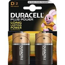 Confezione 2 Pile Batterie Duracell Plus Power D Lr20 Mn1300 Torce hsb