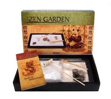 Zen Garden Desktop Kit Rake Office Decor Desk Sand Rocks Meditation Work Gift