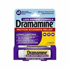 Dramamine Less Drowsy Formula Tablets 8 Tablets (Pack of 3)