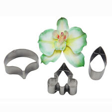 Fondant Flower Petal Cake Cutter Phalaenopsis Moth Orchid Stainless Steel Mould