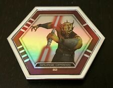 Star Wars Topps Connexions Series 3 Savage Opress Rare Silver Foil