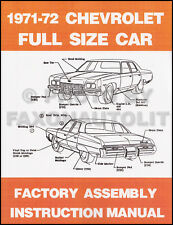 1972 Chevy BOUND Assembly Manual Impala Caprice Bel Air Biscayne Chevrolet Book