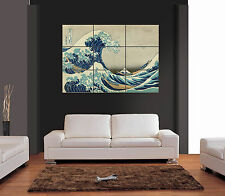GREAT WAVE KANAGAWA Giant Wall Art Print Picture Poster