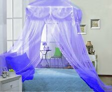 Elegant Lace Princess Bed Canopy Netting Mesh Four Corner Square Bedroom Hang