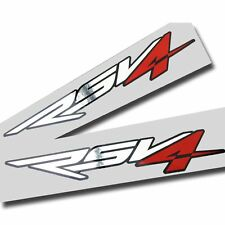 Aprilia RSV4 Motorcycle graphics stickers decals x 2 Chrome,red,black SMALL