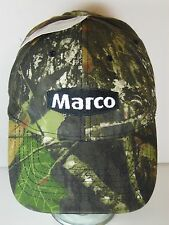 New Tags MARCO BLASTING ABRASIVES Mossy Oak CAMO CAMOUFLAGE Advertising HAT CAP