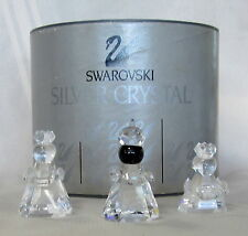 SWAROVSKI #7475NR200 SILVER CRYSTAL THREE WISE MEN RETIRED BNIB RARE FREE SHIP