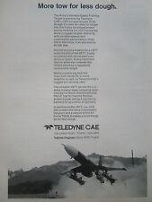 11/1977 PUB TELEDYNE CAE ARMY VSTT TARGET DRONE J402 TURBINE ENGINE ORIGINAL AD