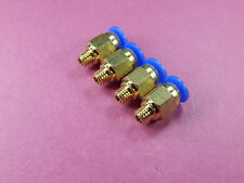 4 of Male Straight Pneumatic 4mm M6 Tube Push In Quick Connect Fitting PC4-M6