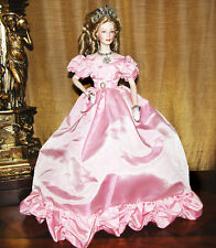 "Franklin Mint Princess Grace ""Ball of the Century"" Porcelain Pink Gown Doll 18"""