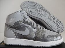 NIKE AIR JORDAN 1 RETRO HI HIGH PREMIER GG GREY SZ 7Y-WOMENS SZ 8.5 [819664-004]