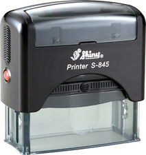 Custom 6 line text / address Shiny Printer S-845 Office Self-Inking Rubber Stamp