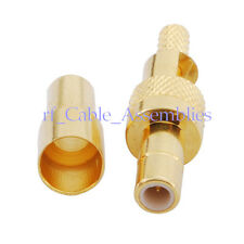 SMB Crimp Jack female for RG178 RG174 1.13mm cable straight RF Coaxial Connector