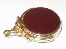ANTIQUE LARGE 9CT ROLLED GOLD  SPINNING FOB FOR ALBERT POCKET WATCH CHAIN