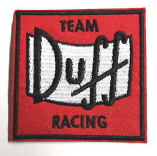 "Simpsons Duff Beer Racing Team Logo  3"" Embroidered Patch- FREE S&H (SIPA-08)"