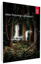 Adobe Photoshop Lightroom 5 per Mac/PC FULL RETAIL PACK Back To School/College
