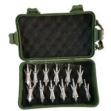 12PK Silver Hypodermic Broadheads 2 Blade 100Grain +1 Broadhead Case