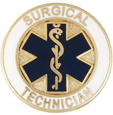 Surgical Technician Lapel Pin Blue Star of Life Medical Surgery Tech Graduation