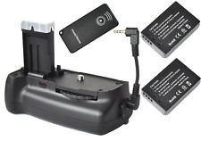 Battery Grip Holder + 2x 875mAh LP-E12 battery for Canon 100D EOS Rebel SL1 DSLR