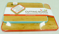 2 Bamboo Cutting Boards With Color Coded Removable Bands 1 Large 1 Medium New!!!