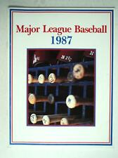 1987 Major League Baseball Record Yearbook Book Program Magazine