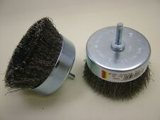 Rotary wire cup brush for use with drill extra large,pack of 2,extra heavy duty
