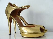GUCCI PLATEAU-HIGH HEELS GOLD GR:40,5 NEU !!!
