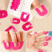 26 Pcs Nail Art Manicure Stickers Tips Finger Cover Polish Shield Protector Case