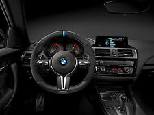 BMW M Performance Steering Wheel, Bare, Alcantara w BLUE Stripe F87 M2 Coupe