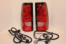 2004 2005 2006 CHEVY SILVERADO FACTORY STYLE RED BRAKE TAIL LIGHTS TAIL LAMPS