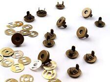 10 Stück Magnetverschluss Magnetknopf Verschluss 4-teilig altmessing 18 mm NEU