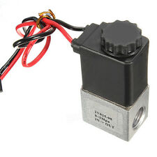 "1/4"" 2 Way 12V DC Normally Closed Pneumatic Aluminum Electric Solenoid Air Valve"