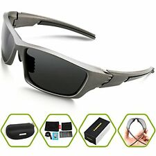Torege Polarized Sports Sunglasses For Cycling Running Fishing Golf Unbreakable