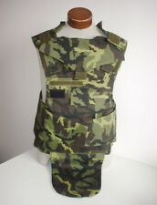 CZECH ARMY original issue VZ95 camo flak vest Large size removed panels UNUSED