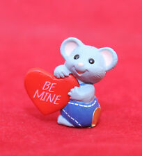 "Hallmark Merry Miniatures VALENTINE 1989 Mouse w/ Heart ""BE MINE"" SHIPS FREE"