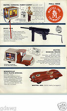 1955 PAPER AD Mattel Toys Burp Gun Popsicle Musical Truck The Dart Dream Car