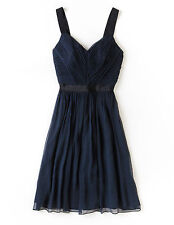 NWT $280 BODEN 100% SILK COCKTAIL PARTY WEDDING NAVY JOCELYN DRESS - US 6