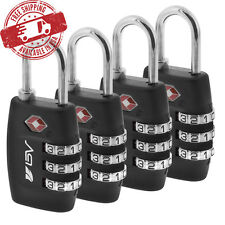 BV 4 x TSA Lock Travel Luggage 3 Digit Combination Resettable NEW TL01 (4 pcs)